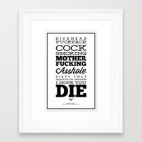 platypus Framed Art Prints featuring PLATYPUS by Everything is Stupid
