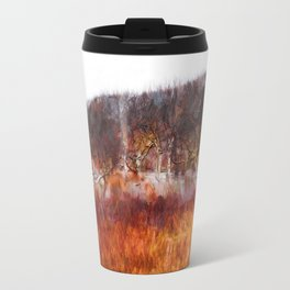 Norderney - Birches in the water hole Travel Mug