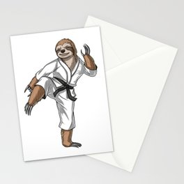 Sloth Karate Fighter Stationery Cards