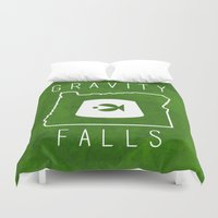 gravity falls Duvet Covers featuring Gravity Falls - Grunkle Stan's Fez (Original) by pondlifeforme