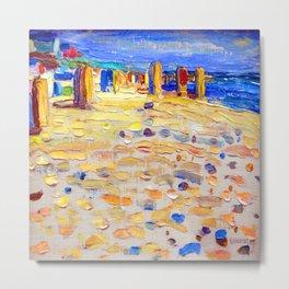 Wassily Kandinsky Beach Scene Metal Print