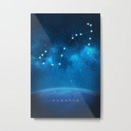 Scorpio: Astrological Art Metal Print