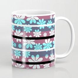 Pretty flowers in stripes Coffee Mug