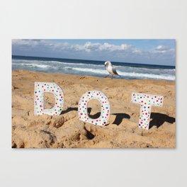 Seagull Dots Canvas Print