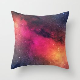 Born in Nebula Throw Pillow