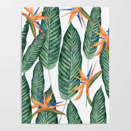 Banana And Flowers #society6 Poster