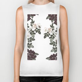 Blackberry Spring Garden - Birds and Bees Floral IV Biker Tank