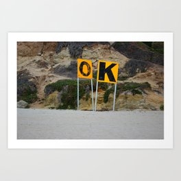 A-OK San Diego Surf Art Print
