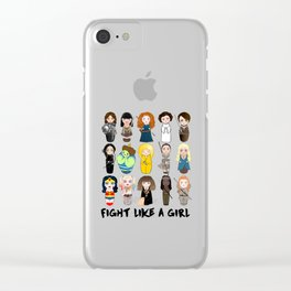 Kokeshis Fight like a girl Clear iPhone Case