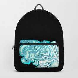Ripples on a Black Background Backpack
