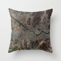 korea Throw Pillows featuring Seoul Korea by LERN