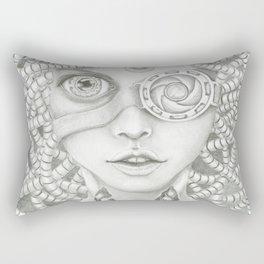 cyborg girl Rectangular Pillow