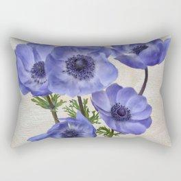 Pretty Periwinkle Poppies Rectangular Pillow