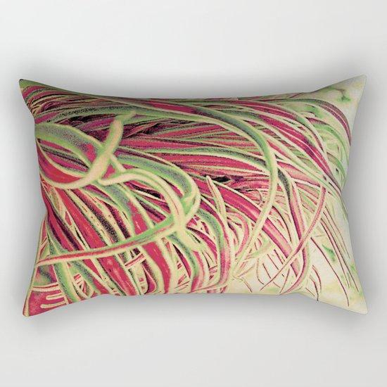 Green & red succulent. Rectangular Pillow