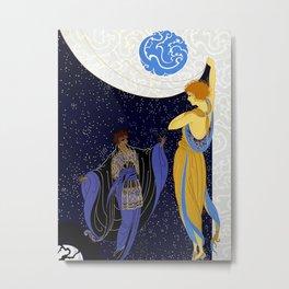 "Art Deco Design ""Night Dream"" Metal Print"