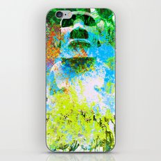 moai in green iPhone & iPod Skin