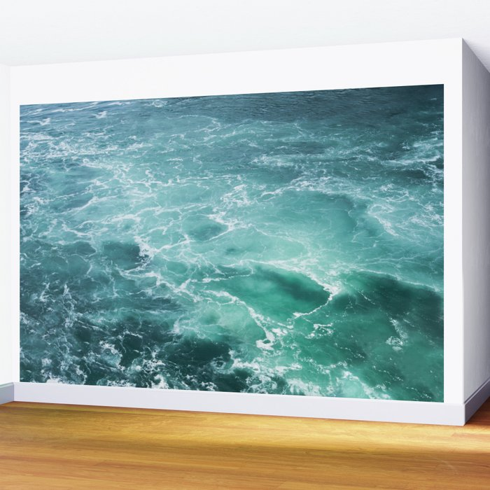 Sea Waves   Seascape Photography   Water   Ocean   Beach   Aerial Photography Wall Mural