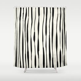 Retro Stripe Reverse Shower Curtain