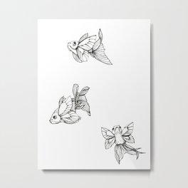 FlutterFish Metal Print