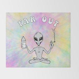 Far Out Alien (Pastel) Throw Blanket