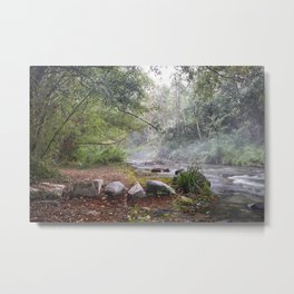 Dream foggy Morning . At The Mountains Metal Print