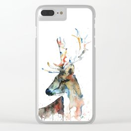 Deer - Fallow Deer Clear iPhone Case