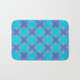 Turquoise & Purple Mandala Pattern Bath Mat