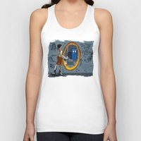 aperture Tank Tops featuring In Need of a Companion by Miss-Lys