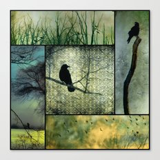 Square Of Crows Canvas Print