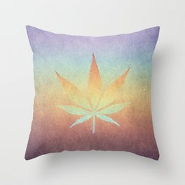 Cannabis sativa Throw Pillow