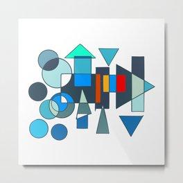 Abstraction Géometrique Metal Print