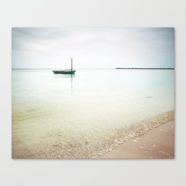 Moored / Beach Photography Canvas Print