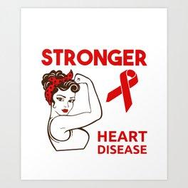 Heart Cardiovascular Disease Awareness design for Women Art Print