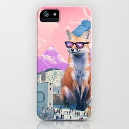 Fox at the rink iPhone Case