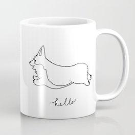 Pembroke Welsh Corgi - Hello Coffee Mug