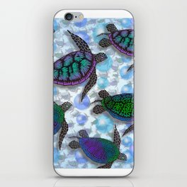 SEA OF TURTLES iPhone Skin