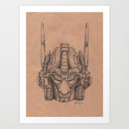 Robots in Disguise: Optimus Art Print