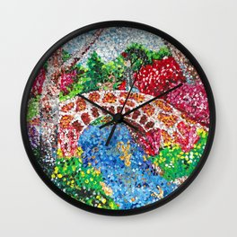 Pointalism Pond Wall Clock