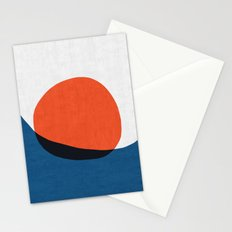 Blue and red modern art IV Stationery Cards