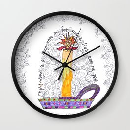 Thy Word Is A Light Wall Clock