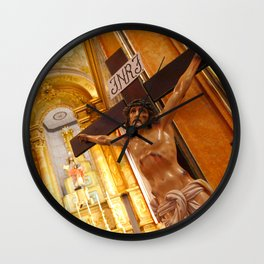Jesus on the cross Wall Clock