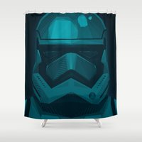 stormtrooper Shower Curtains featuring Stormtrooper by ANDRESZEN