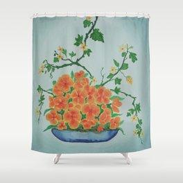 Ikebana Flowers IV Shower Curtain