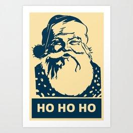 Ho Ho Ho Santaclaus modern pop art Art Print