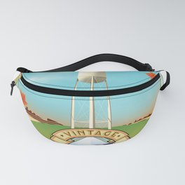 See america vintage travel poster. Fanny Pack