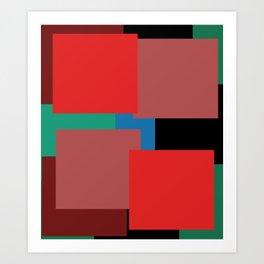 Colourblock by definition Art Print