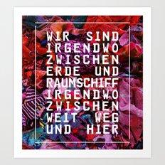GLÜCK & BENZIN Art Print