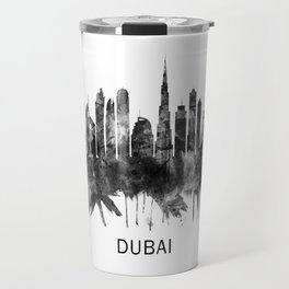 Dubai United Arab Emirates Skyline BW Travel Mug