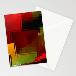 Square glass  1 Stationery Cards