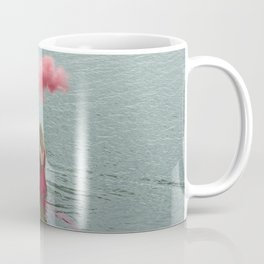Beautiful woman swimming at the sea. Coffee Mug